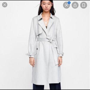 New Zara Suede Trench Coat